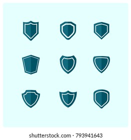 Internet security vector badges and emblems set.