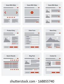 Vektor für die Navigationsstruktur der Internetseite