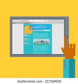Internet Tablet vector