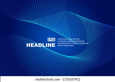 Internet technology abstract background constructed by dynamic particles.
