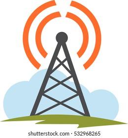 Internet and Telecom signal tower