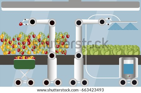 internet things agriculture smart farm robots stock vector royalty rh shutterstock com
