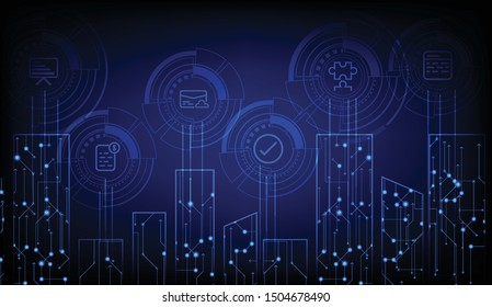 Internet of things concept design illustration