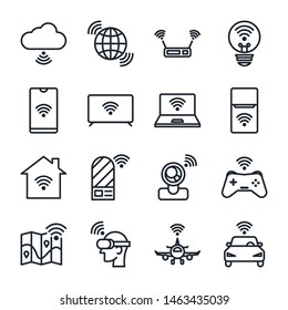 Internet of things icon set.