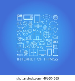 Internet of things and smart home illustration. Vector