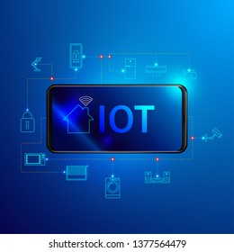 Internet of things technology, Smart home concept.