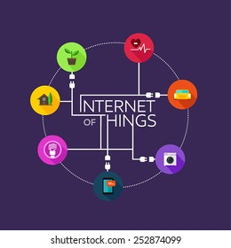 Internet of Things thing icon vector illustration
