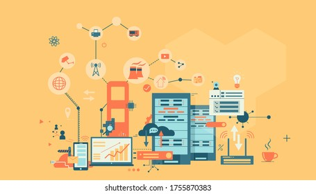 internet of things vector illustration - Shutterstock ID 1755870383