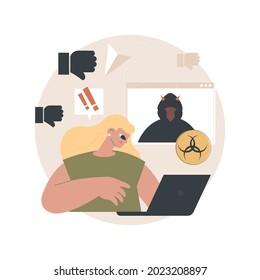 Internet trolling abstract concept vector illustration. Digital harassment, internet troll, social media aggressive behavior, trolling technique, tactic, off-topic comment abstract metaphor.