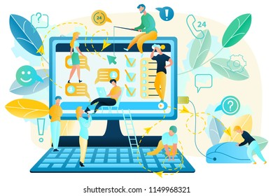 Internet User Activity Habits Tracking Flat Vector Concept. Online Client Preferences Analysis and Prediction, Employee Network Activity Monitoring, App or Web Page Usability Testing, Customer Service