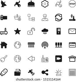 internet vector icon set such as: head, unlocking, back, video, paper, code, document, medical, user, siren, industrial, cursor, keyword, post, broadcast, attention, beautiful, sale, structure