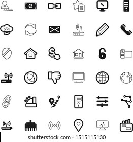 internet vector icon set such as: badge, port, loop, education, hand, cable, stylish, banking, residence, up, padlock, rj45, audio, e-mail, architecture, view, firewall, shield, shop, income, page