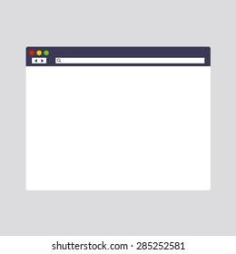 Internet web browser window. Vector
