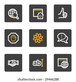 Internet web icons, grey buttons series