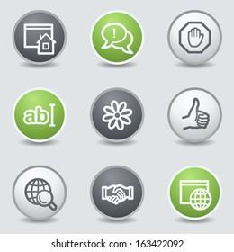 Internet web icons set 1, circle buttons
