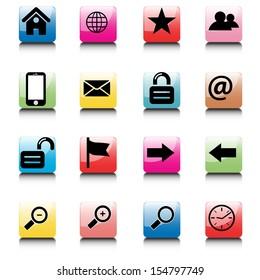 internet and web icons set