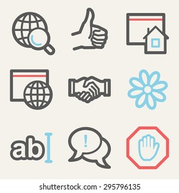 Internet web icons, square buttons