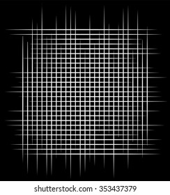 Intersecting lines, mesh, grid monochrome vector graphics.