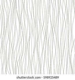 Intersecting lines texture. Seamless pattern. Black and white illustration for wallpaper, web page design. Modern minimalistic style. Abstract background. Vector vertical ornament. Simple structure.