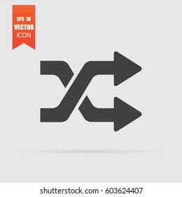 Intersection arrows icon in flat style isolated on grey background. For your design, logo. Vector illustration.