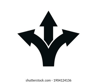 Intersection icon vector logo illustration