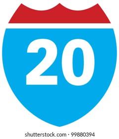 Interstate 20 highway sign