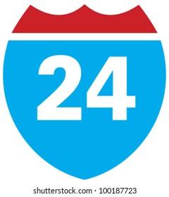 Interstate 24 highway sign