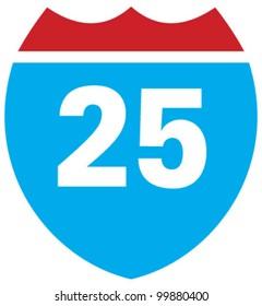 Interstate 25 highway sign
