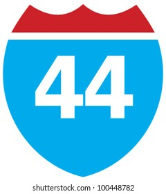 Interstate 44 highway sign