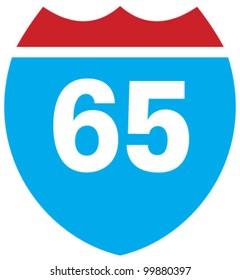 Interstate 65 highway sign