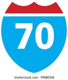 Interstate 70 highway sign
