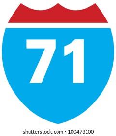 Interstate 71 highway sign
