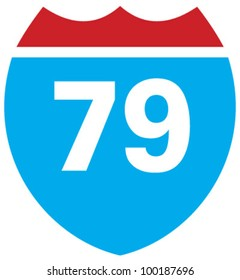 Interstate 79 highway sign