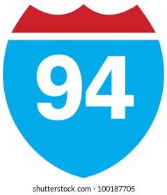 Interstate 94 highway sign