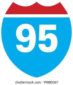 Interstate 95 highway sign
