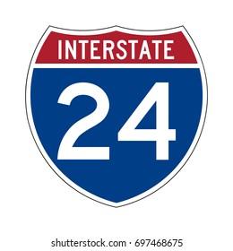 Interstate highway 24 road sign