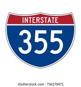 Interstate highway 355 road sign