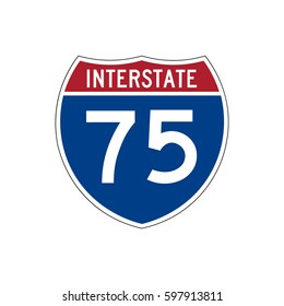 Interstate highway 75 road sign