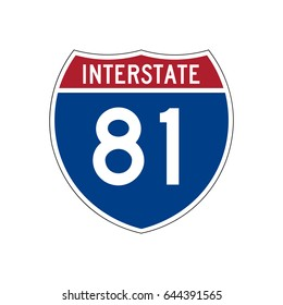 Interstate highway 81 road sign