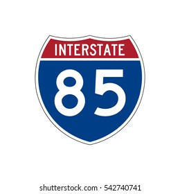 Interstate highway 85 road sign