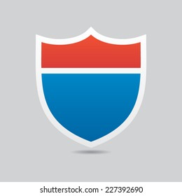 Interstate Road Shield Vector