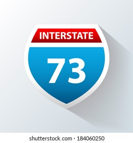 Interstate Sign on a white background. Vector illustration