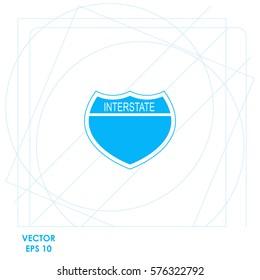 Interstate USA  icon Vector design.