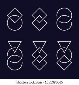 Intertwined graphic elements, line design. Vector illustration EPS 10