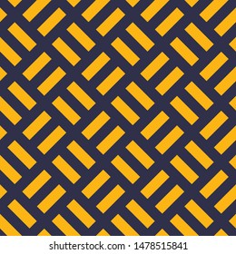 Intertwined Gray Yellow Lines Architectural Seamless Pattern