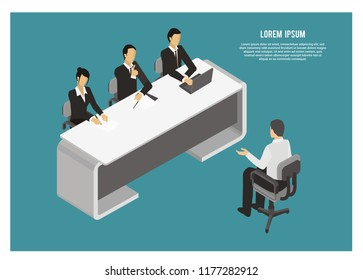 interview session simple illustration