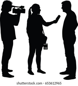 interview with star, journalist and cameraman