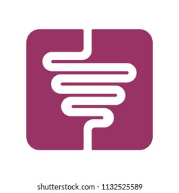 Intestines sign. digestive tract icon. Human gut symbol. Vector illustration