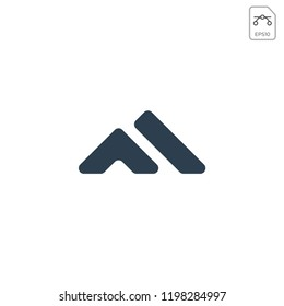 intial F or M for mountain logo template vector illustration and inspiration