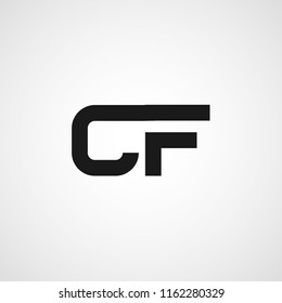 Intial Letter CF Logo Template Design